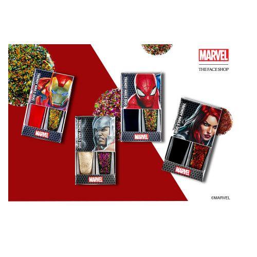 E esses esmaltes mais lindos da coleção Marvel da The Face Shop.