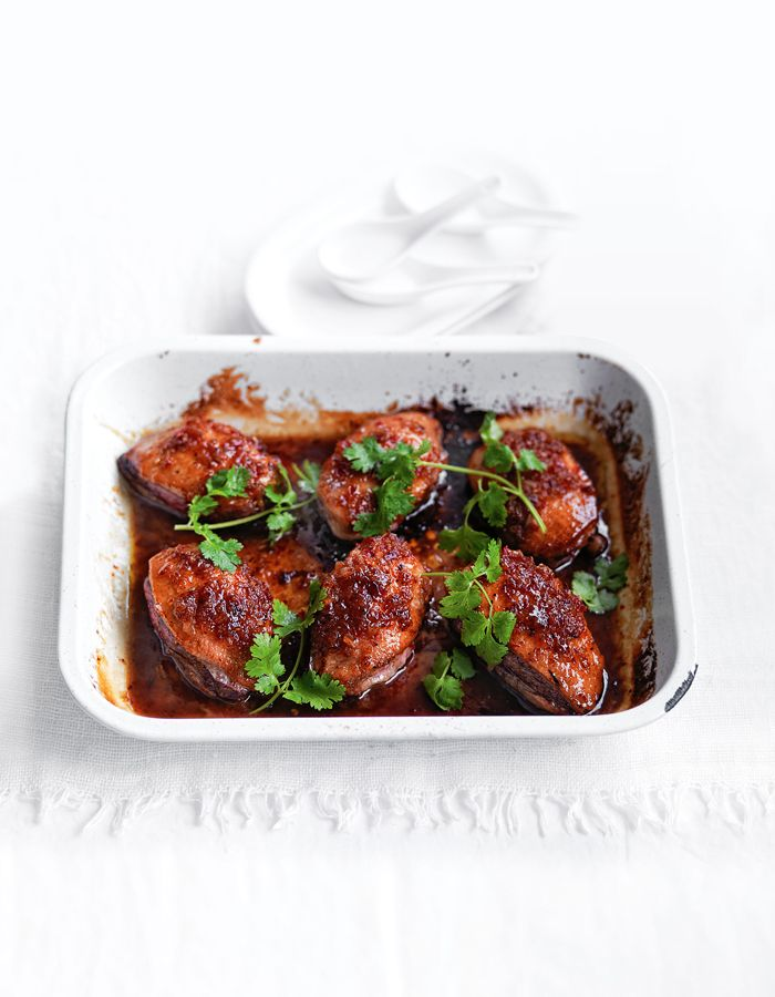 DUCK WITH STICKY CHILLI CARAMEL SAUCE