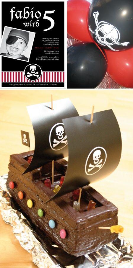 Piratenkuchen #kindergeburtstag #piratenparty
