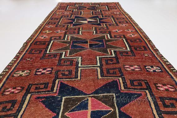 4 3x11 9 Ft Hallway Runner Turkish Runner Wide Geometric Etsy Vintage Runner Rugs Hallway Runner Turkish Runner Rugs 9 ft runner rugs