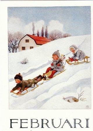 February - Elsa Beskow