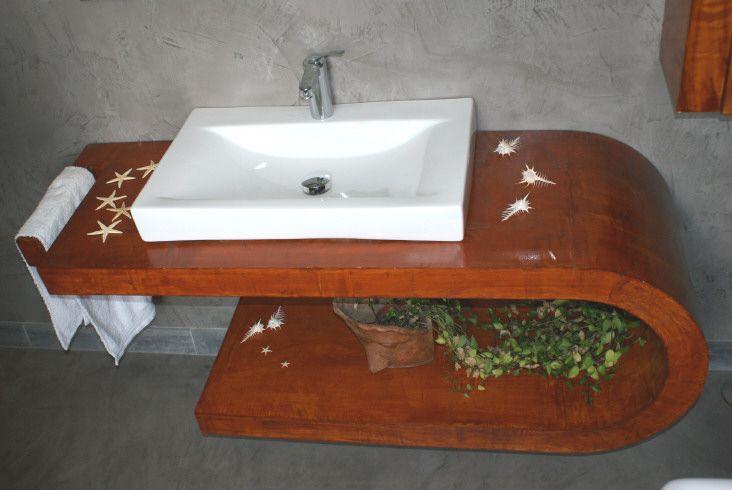 Mueble Baño Microcemento:mueble lavabo #microcemento #baños