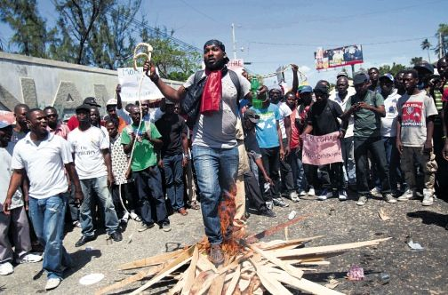 Violence in Haiti as final election results released - http://streetiam.com/violence-in-haiti-as-final-election-results-released/