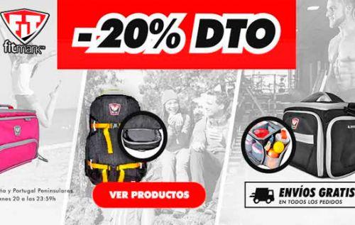 Un 20% de descuento en mochilas marca Fitmark en HSN