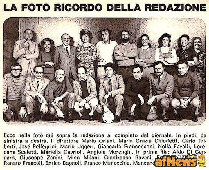 Dal blog di Luca Boschi, una immagine d'epoca (1972) della redazione del Corriere dei Ragazzi | afnews.info