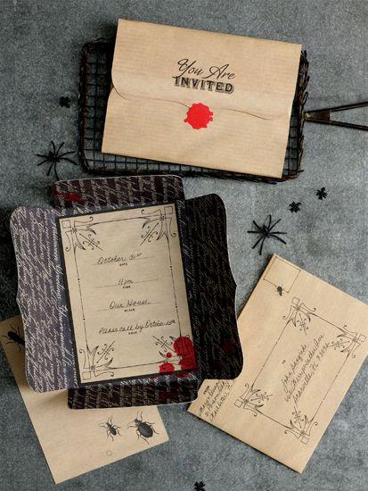 Martha Stewart Crafts - Halloween - Party Invitations - Vampire