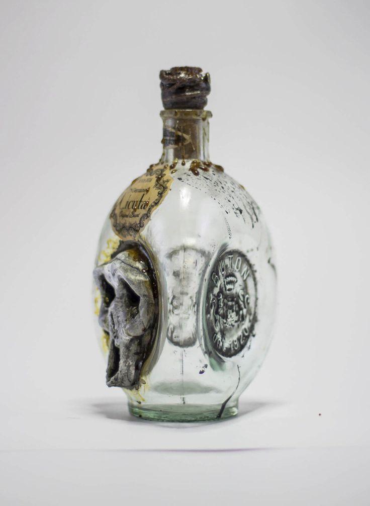 Skull Pirate Poison Bottle by OrionOddities on Etsy https://www.etsy.com/listing/252011455/skull-pirate-poison-bottle