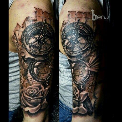 Tattoo Studio Ideas Pinterest: Old ` West London ` Sundial Compass And