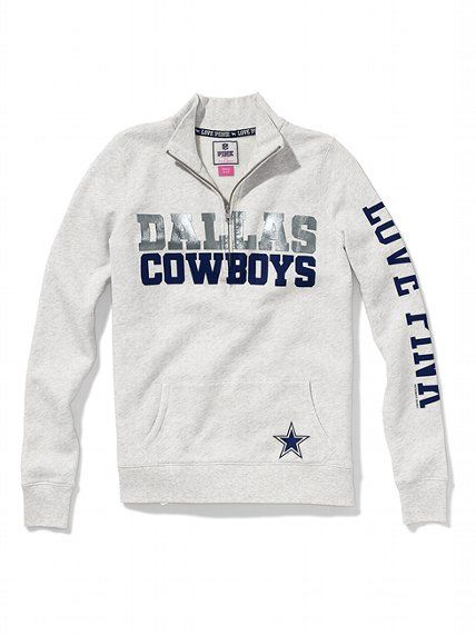 Victoria's Secret PINK Dallas Cowboys Half-Zip Pullover #VictoriasSecret http://www.victoriassecret.com/clearance/pink-loves-the-nfl/dallas-cowboys-half-zip-pullover-victorias-secret-pink?ProductID=87253=CLR?cm_mmc=pinterest-_-product-_-x-_-x