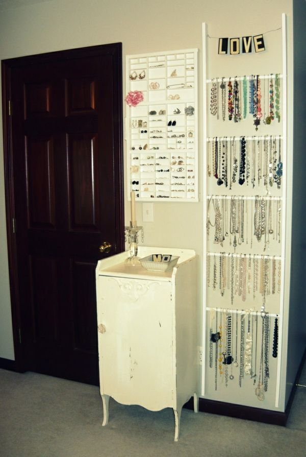 schmuckst nder selber machen diy ideen f r schmuckaufbewahrung home pinterest organizing. Black Bedroom Furniture Sets. Home Design Ideas
