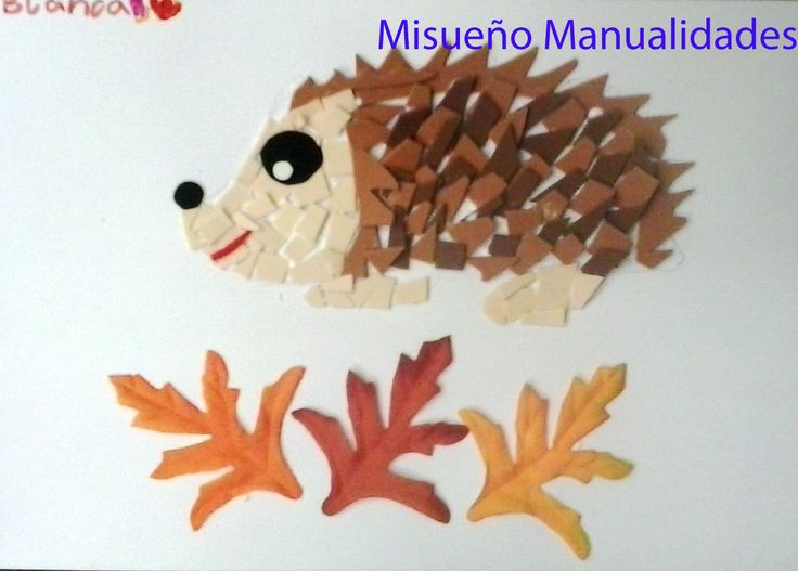 """Taller infantil de """"mosaico con goma EVA"""", tema """"otoño"""". www.misuenyo.com / www.misuenyo.es"""