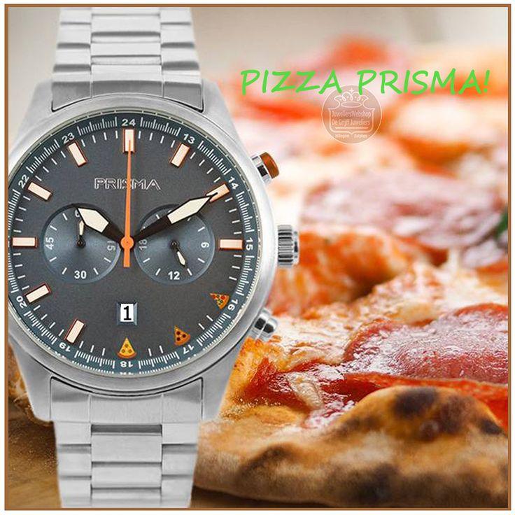 DANKZIJ PRISMA EEN PIZZA, OP ELK MOMENT PIZZA OVERAL OP ELK MOMENT! Prisma komt met 's werelds eerste horloge waarmee je pizza kan bestellen. Wie is er nou geen fan van pizza? Bij Prisma Horloges zijn we er dol op. Helaas meestal wel op de gekste tijden. Vaak is er dan geen pizzeria in de buurt of is het lastig een pizza te bestellen. Met deze behoefte is het ontwikkelingsteam van Prisma begin vorig jaar aan de slag gegaan. En met succes! Na verschillende doorontwikkelingen is...