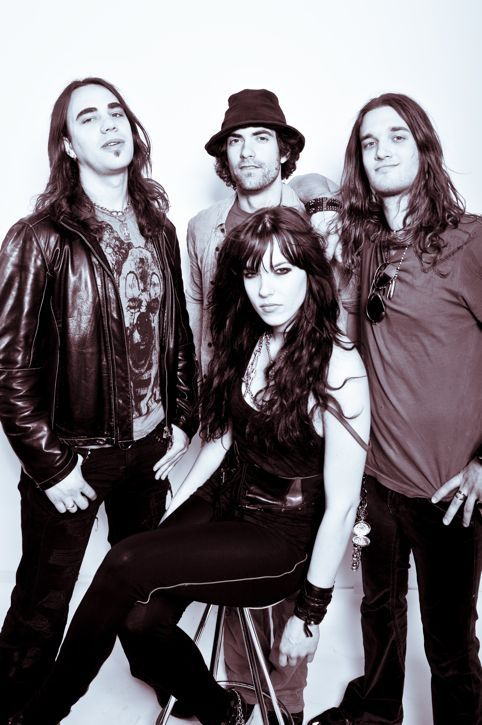 Halestorm is an American rock band from Red Lion, Pennsylvania. The group's self-titled debut album was released on April 28, 2009 through Atlantic Records. Their second album The Strange Case Of... was released on April 10, 2012.