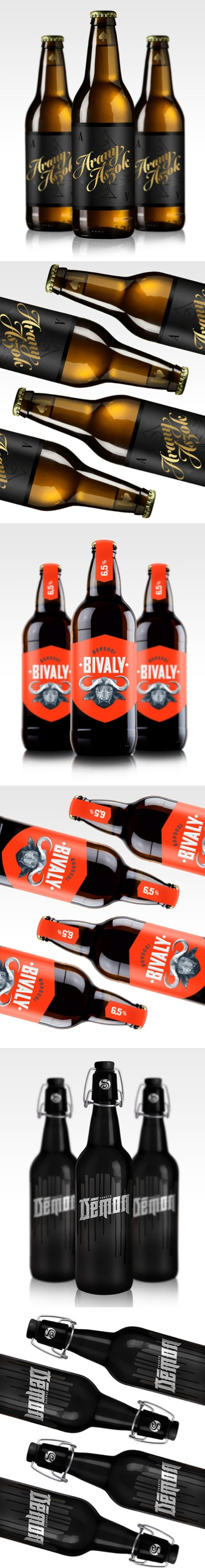 Hungarian Beers redesign by hungarian based designer Csaba Bernáth