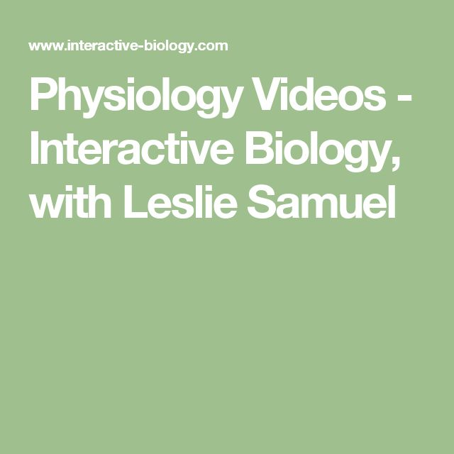 Physiology Videos - Interactive Biology, with Leslie Samuel