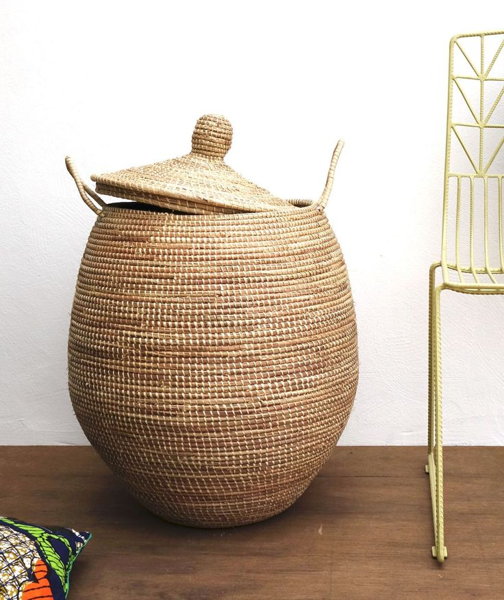 Rustic hamper can also fit to modern home decor. #handmadehomedecor