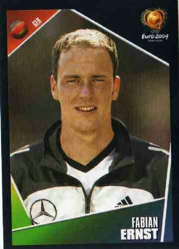 Fabian Ernst of Germany. Euro 2004'card.