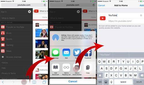 Tạo shortcut cho Youtube.com ra ngoài màn hình