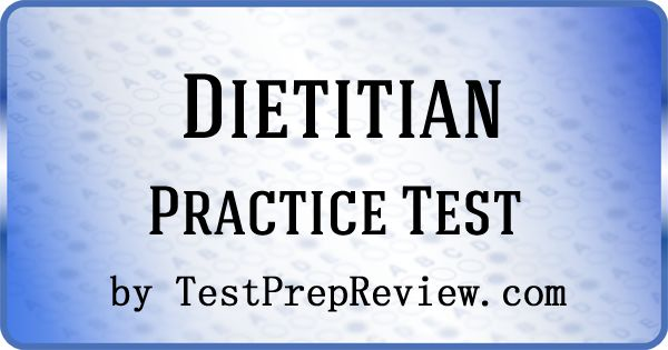 Free Dietitian Test by TestPrepReview.  Get the help you need for your Dietitian exam. #dietitian