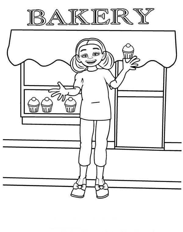 Bakery Store Coloring Pages For Kids Free Coloring Pages