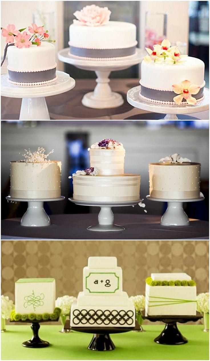 Mutiple Wedding Cake Dessert Table