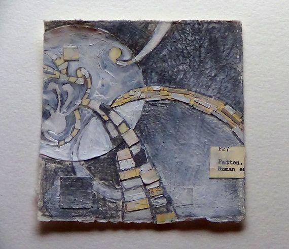 Small Abstract Library Card Collage with by TheFineToothedComb