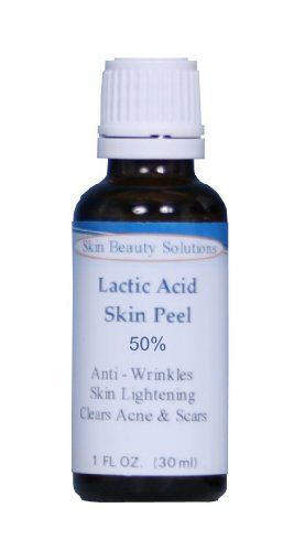 1 oz  30 ml LACTIC Acid 50 Skin Chemical Peel  Alpha Hydroxy AHA For Acne Skin Brightening Wrinkles Dry Skin Age Spots Uneven Skin Tone Melasma  More from Skin Beauty Solutions ** This is an Amazon Affiliate link. Details can be found by clicking on the image.
