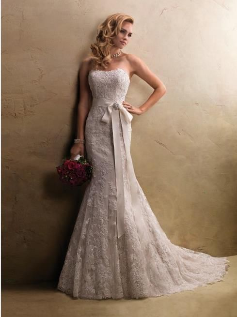 Mermaid Lace White Ivory Bridal Gown Wedding Dress Custom Size 6 8 10 12 14 16++ in Clothing, Shoes & Accessories | eBay