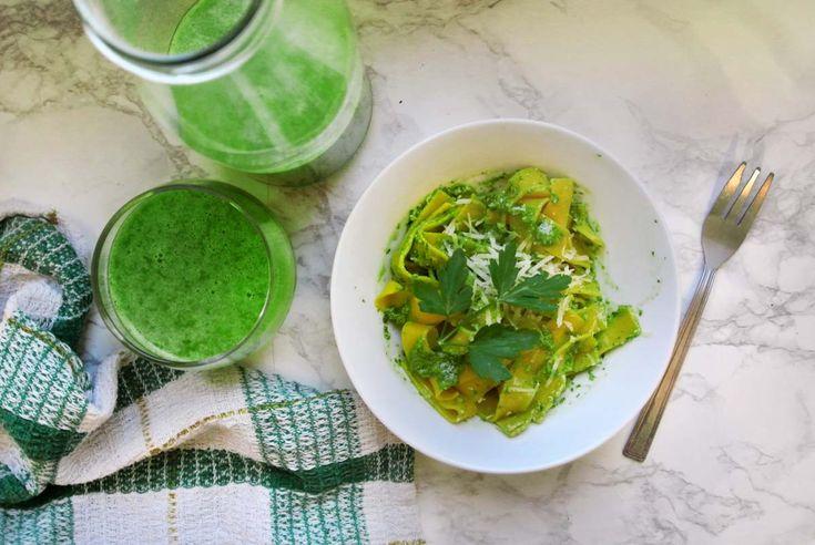 Stylowo i Zdrowo - blog o zdrowiu, aktywności i urodzie: Domowe pesto z bazylii z makaronem