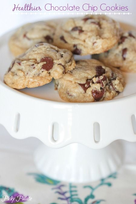 Healthier Whole Wheat Chocolate Chip Cookies with a secret ingredient!