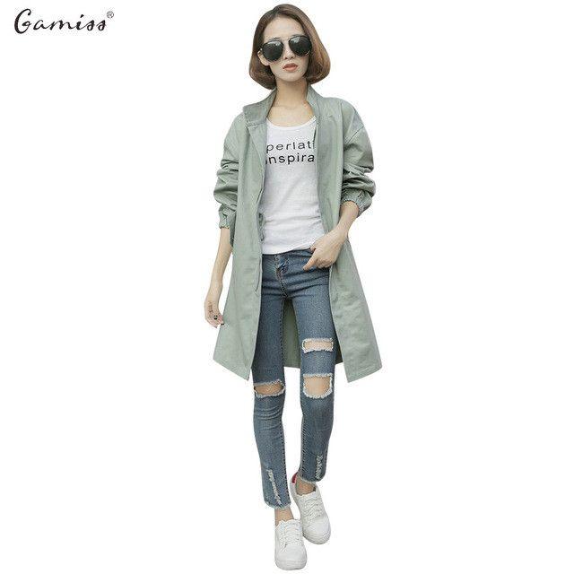 Casual Trench Coat New Autumn Plus Size Trench Coat Women Slim Windbreaker Female Desigual Long Coat