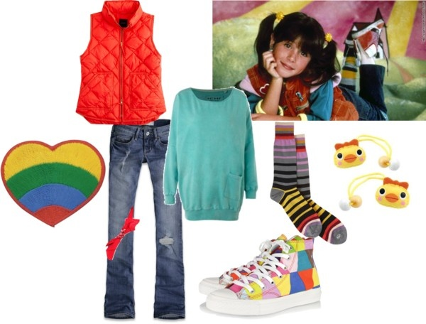 """Punky Brewster Halloween Costume"" by sleepyjean784 on Polyvore"