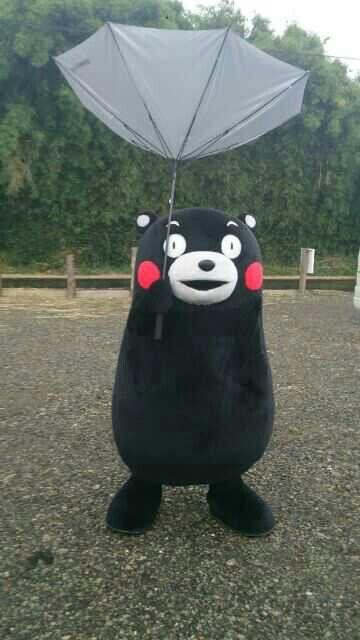 Kumamon with an Umbrella