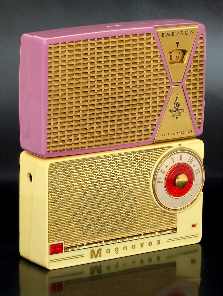 1st gen transistor radios! From a site that shows the first transistor radios of all the major brands, www.ericwrobbel.com/collections/transistor-radios.htm