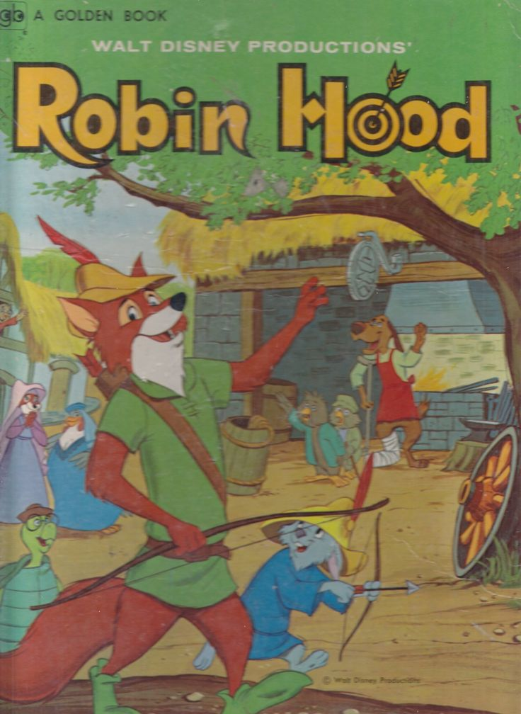 Title: Walt Disney Productions' Robin HoodSeries: Big Golden Book 10827-20 (ISBN: 0-307-10827-9)  Characters: Robin Hood, Little John, Maid Marian, Sheriff of Nottingham, Prince John, Allan-a-Dale, Sir...