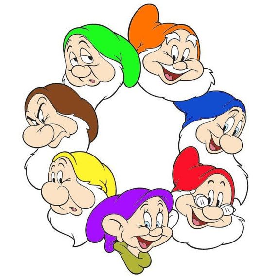 Seven Sleep Dwarf Hats For 7 Dwarves Dress Up Snow By