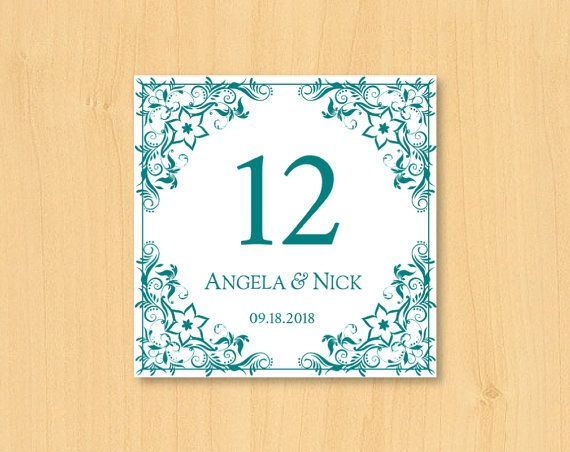 DIY wedding printable table number template for by DIYWedTemplate