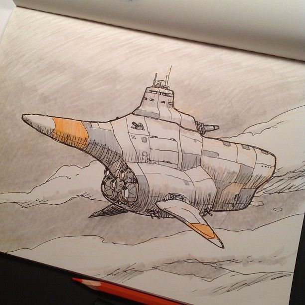 Concept ship for a little personal project I'm cooking up.  Photo by jakeparker