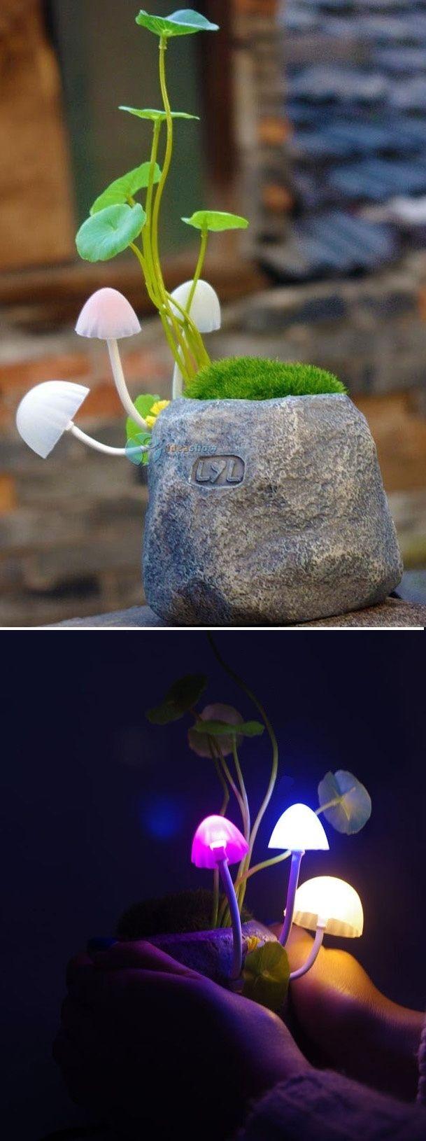 Mushroom Plant Night Light | 41 Coolest Night Lights To Buy Or DIY