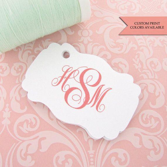 Monogram tag 30  Personalized tag  Wedding favor tags
