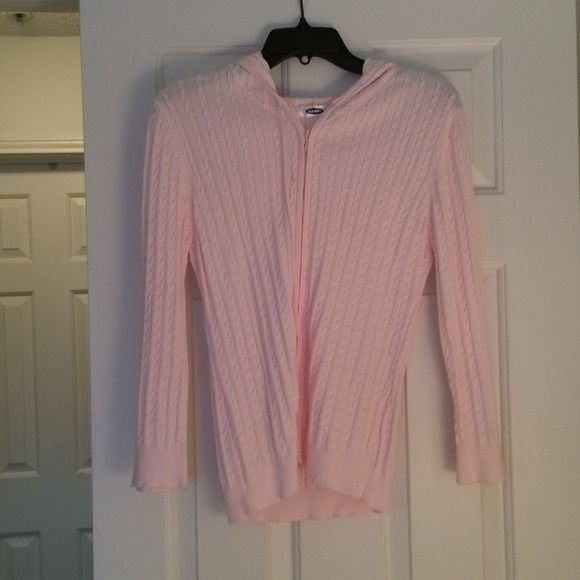 Pink Old Navy zip up hoodie sweater size m Pink Old Navy zip up hoodie sweater size m please note that it is labeled XL but has been altered to size m Old Navy Sweaters