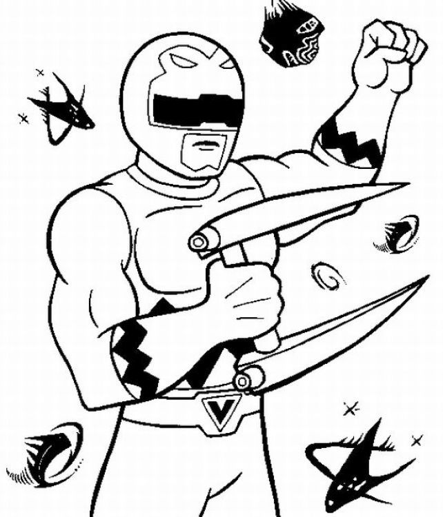cool Power Ranger Ninja Storm Coloring Pages