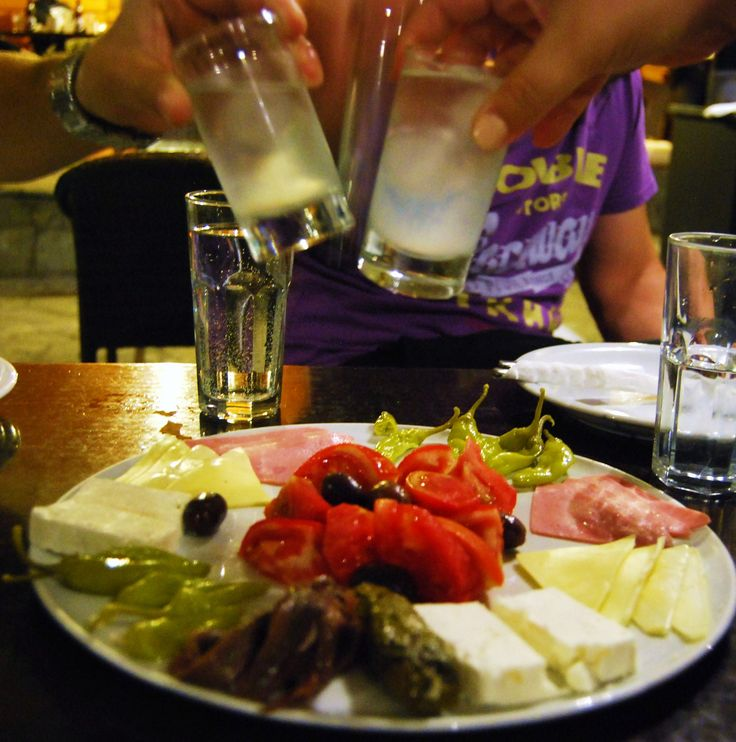 tsipouro with meze