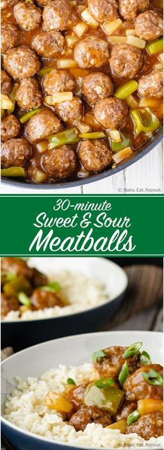 Sweet and Sour Meatballs - Quick and easy sweet and sour meatballs ...