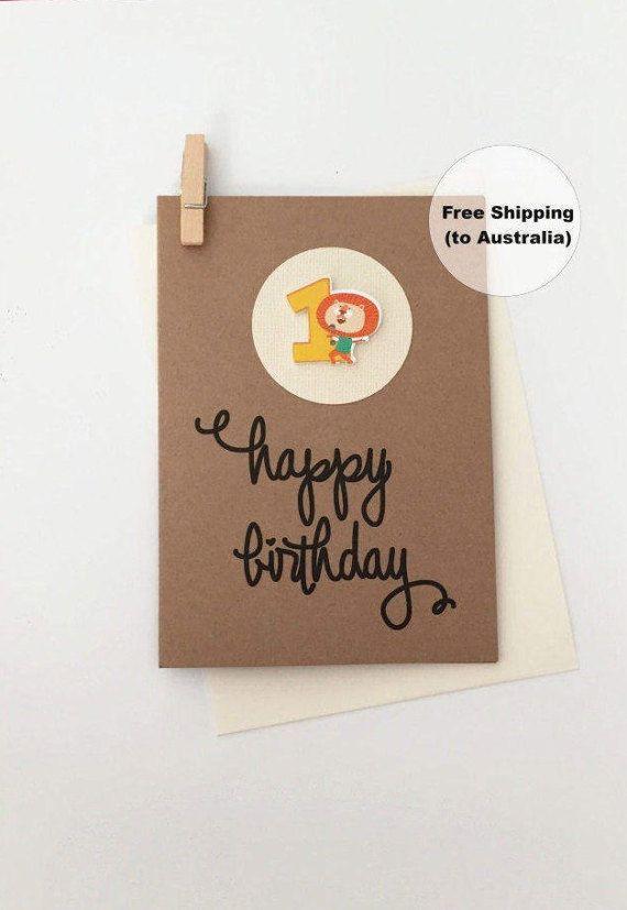 1st Birthday Card – 1st Happy Birthday Card – Age 1 Happy Birthday Card – First Happy Birthday Card – Happy 1st Birthday Card