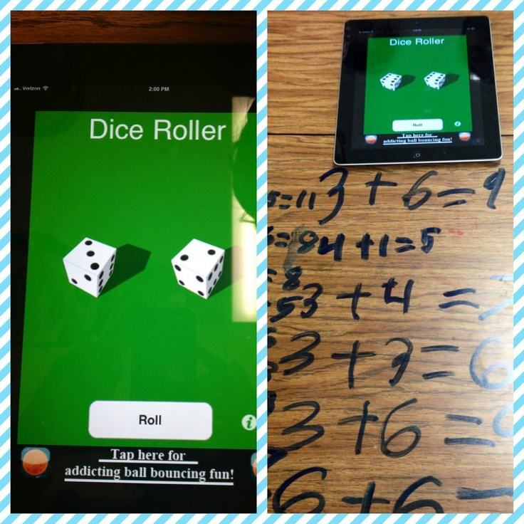 Glitzy In 1st Grade's Blog has this great idea to use the dice app on iPad to practice math facts!