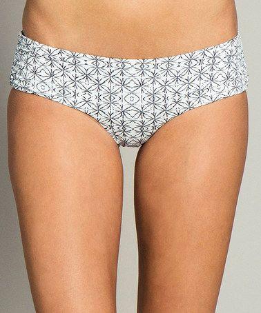 White Journey Retro Hipster Bikini Bottoms #zulily #zulilyfinds