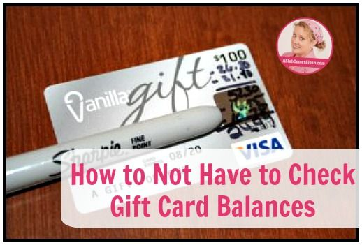 How to Not Have to Check Gift Card Balances at ASlobComesclean.com