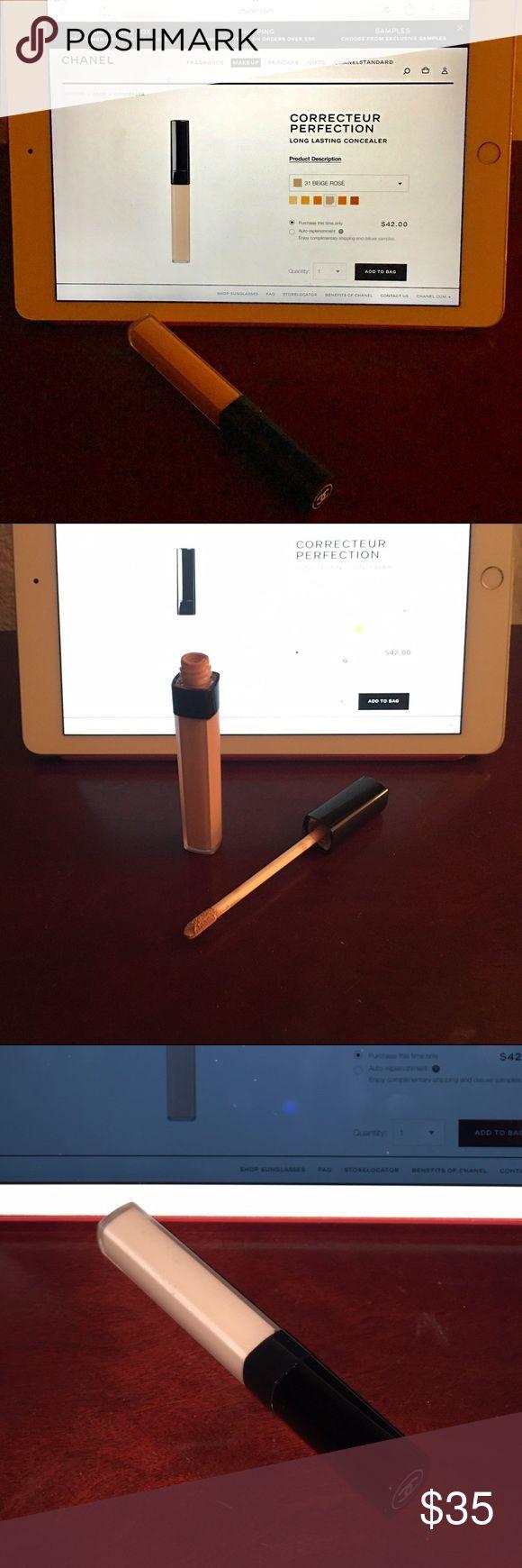 Chanel Concealer in Beige Rose Chanel Correcteur Perfection long lasting concealer in #31 beige rose CHANEL Makeup Concealer