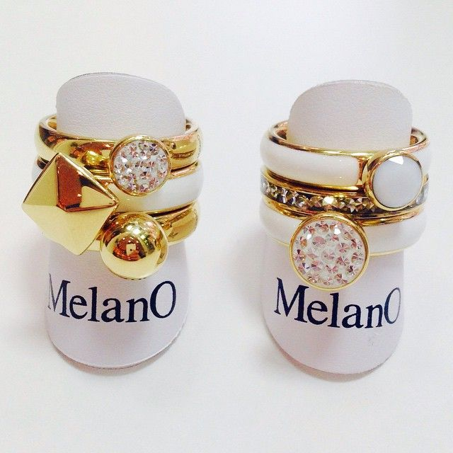 ❤️Melano inspiratie❤️ - Twisted ringen €17,50 / €32,50 - Twisted settingen €17,50 / €24,95#bemelmansjuweliers#melano#twisted#gold#goud#white#wit#summer#zomer#mixandmatch